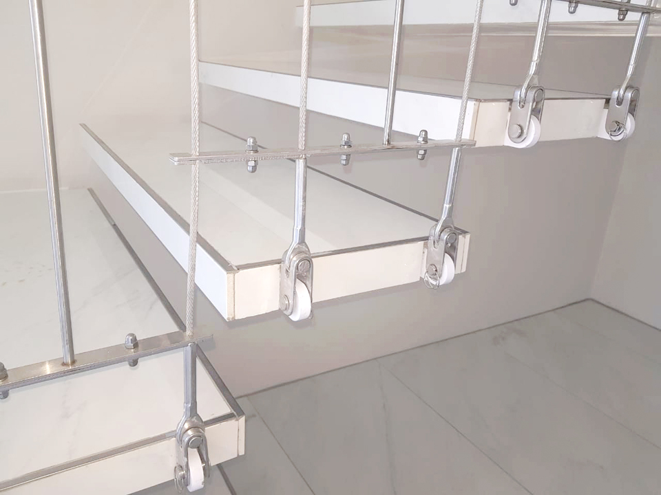 Suspended Stainless Steel Staircase